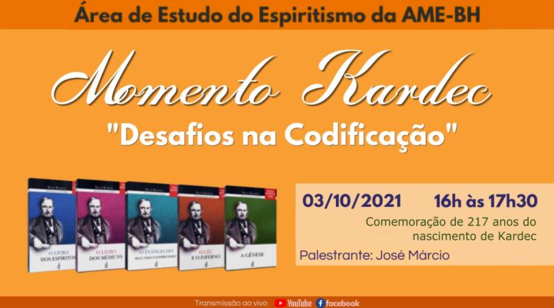 MOMENTO KARDEC, DESAFIOS NA CODIFICAÇÃO